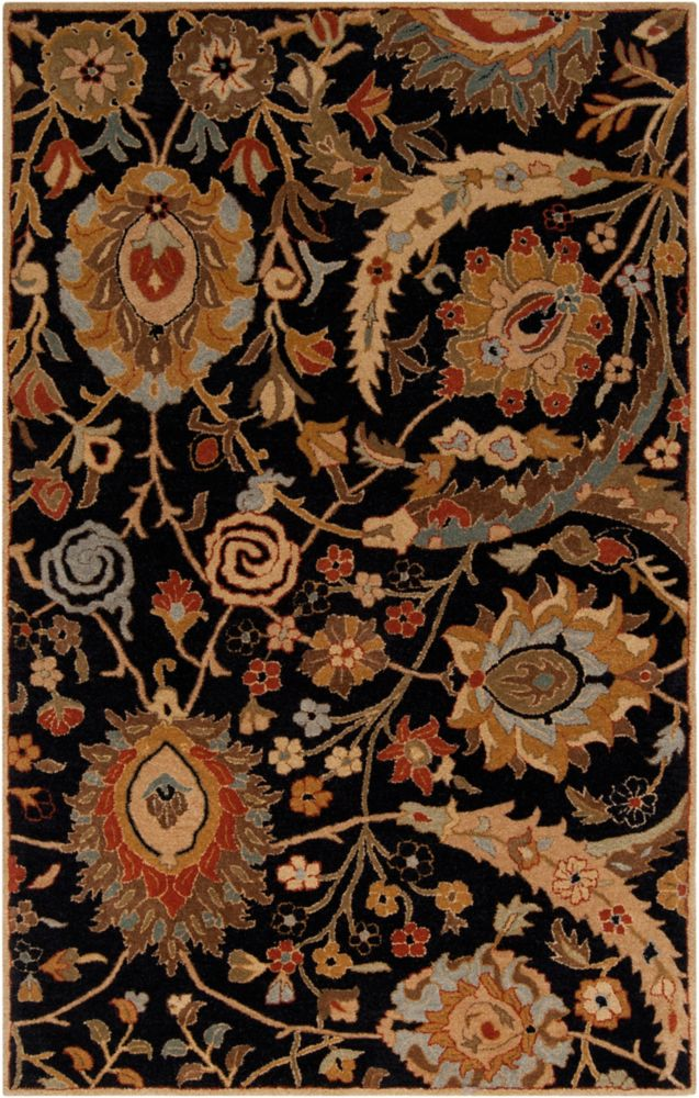 Home Decorators Collection Afonso Black 5  ft. x 8  ft. Indoor Area Rug