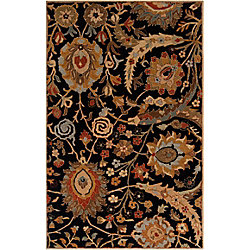 Home Decorators Collection Afonso Black 8  ft. x 11  ft. Indoor Area Rug