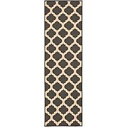 Home Decorators Collection Aggie Black 2 Feet 3 Inch x 11 Feet 9 Inch Indoor/Outdoor Runner