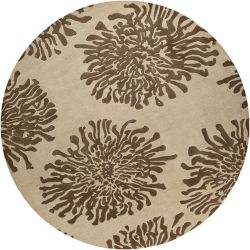 Home Decorators Collection Aelandra Beige 8  ft. x 8  ft. Round Indoor Area Rug