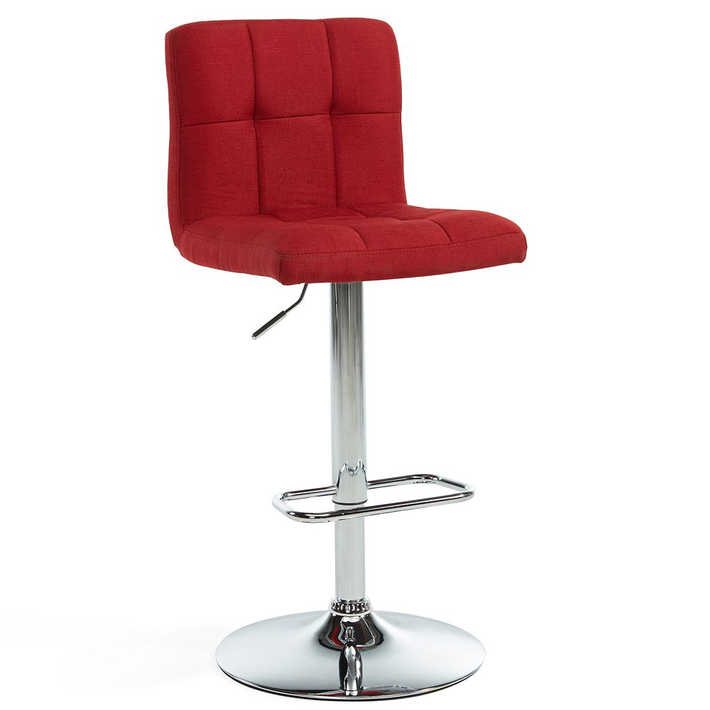 Maxy-Gas Lift Stool-Red-Set of 2
