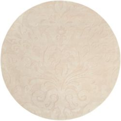 Home Decorators Collection Milton beurre 8 ft. X 8 ft. rond tapis interieur