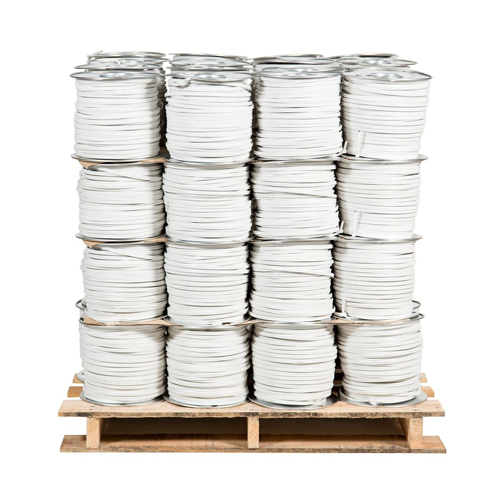 Romex SIMpull NMD90 Copper Electrical Cable - 14/2 White 150m -  48 Spools Pro Contractor Pallet