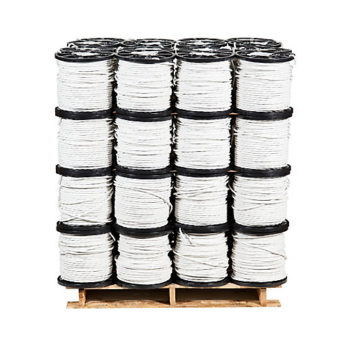Romex SIMpull NMD90 Copper Electrical Cable - 14/3 White 150m - 48 Spools Pro Contractor Pallet