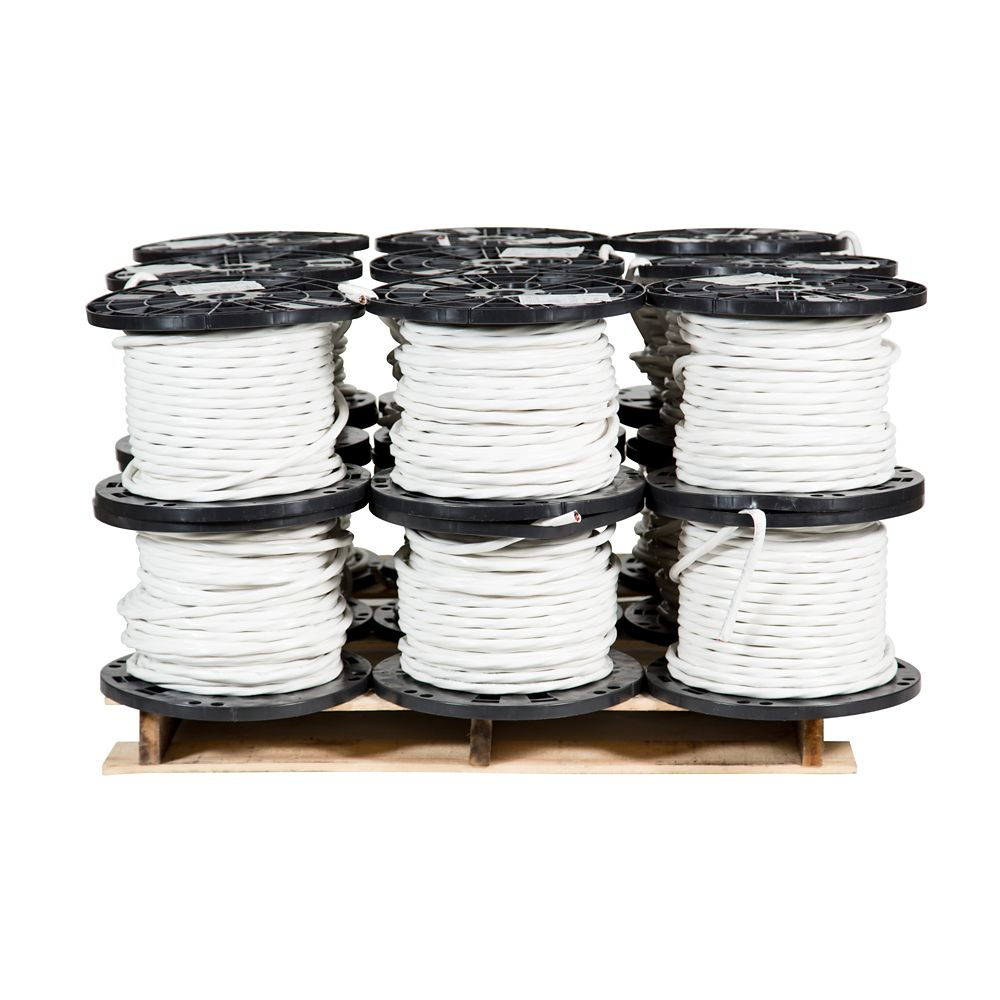 Romex SIMpull NMD90 Copper Electrical Cable - 8/3 White 75m - 18 Spools Pro Contractor Pallet