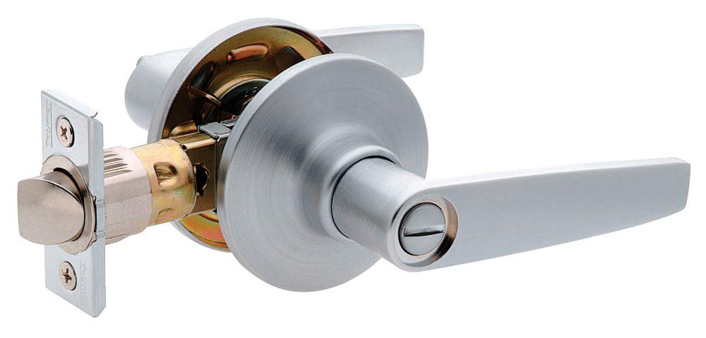 Hampton Satin Chrome 6-1 Auto-Release Privacy Lever
