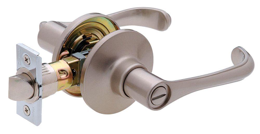 Provence Satin Nickel 6-1 Auto-Release Privacy Lever