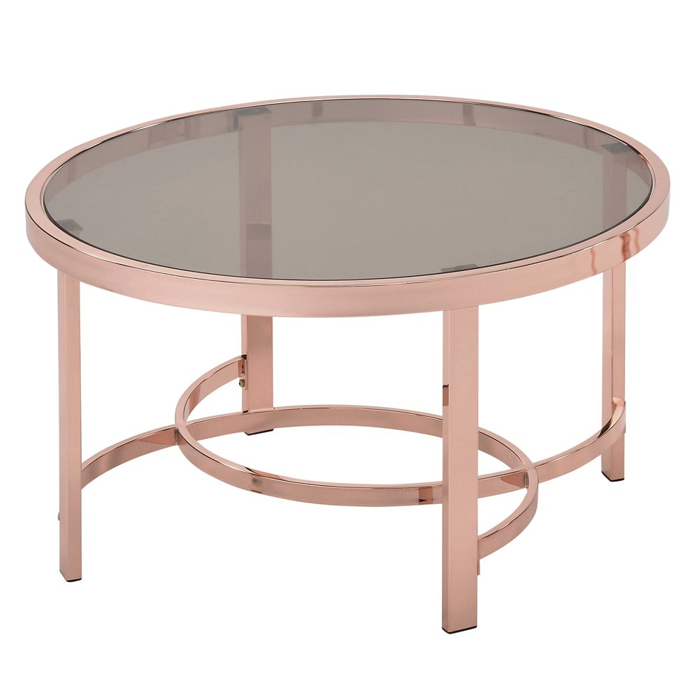 Strata-Coffee Table-Rose Gold