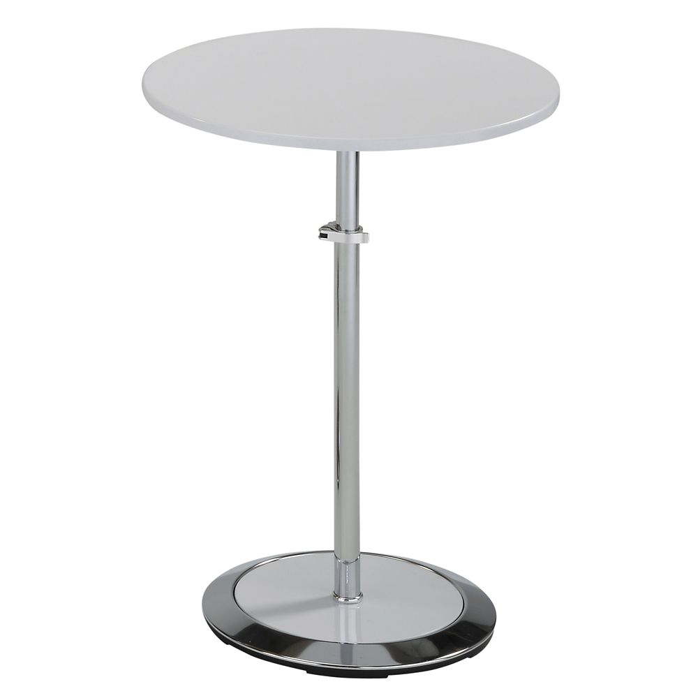 Nero II Table D'appoint Adjustable - Blanc