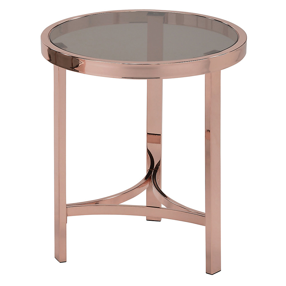 Strata-Accent Table-Rose Gold
