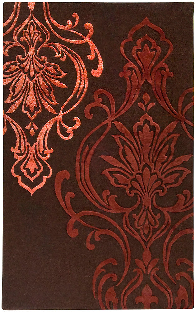 Clovis Chocolate 5 Feet x 8 Feet Indoor Area Rug