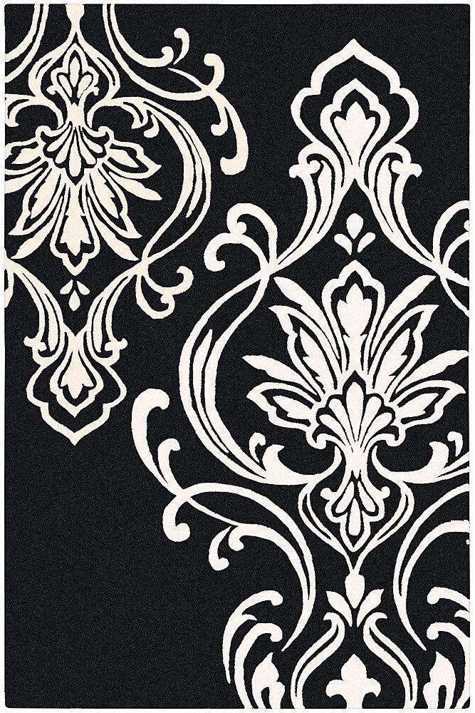 Clovis Black 2 Feet x 3 Feet Indoor Area Rug