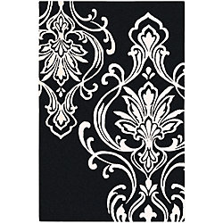 Home Decorators Collection Clovis Black 5 Feet x 8 Feet Indoor Area Rug