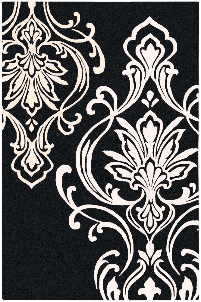 Home Decorators Collection Clovis Black 5 Feet x 8 Feet Indoor Area Rug