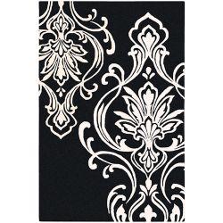 Home Decorators Collection Clovis Black 8 Feet x 11 Feet Indoor Area Rug