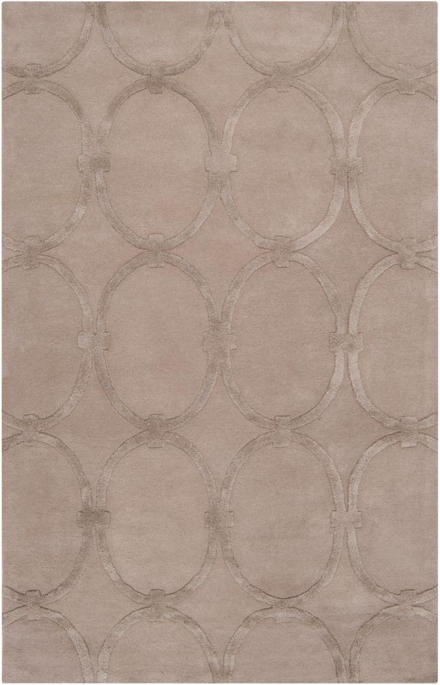 Home Decorators Collection Dalaro Taupe 3 Feet 3 Inch x 5 Feet 3 Inch Indoor Area Rug