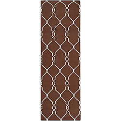 Home Decorators Collection Agios Chocolate 2  ft. 6-inch x 8  ft. Indoor Runner