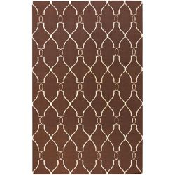 Home Decorators Collection Agios Chocolate 3  ft. 6-inch x 5  ft. 6-inch Indoor Area Rug