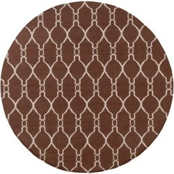 Home Decorators Collection Agios Chocolate 8  ft. x 8  ft. Round Indoor Area Rug