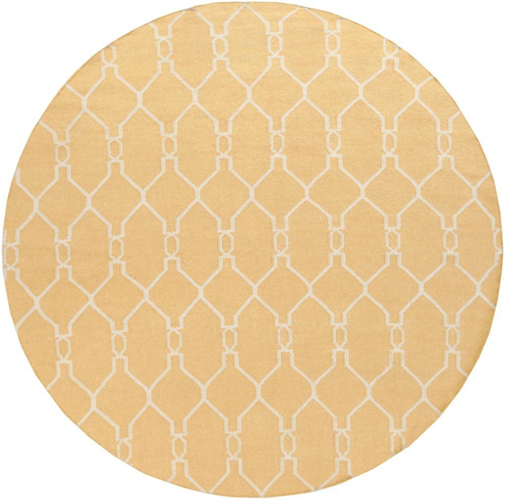 Home Decorators Collection Agios Gold 8  ft. x 8  ft. Round Indoor Area Rug