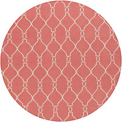 Home Decorators Collection Agios Pink 8  ft. x 8  ft. Round Indoor Area Rug