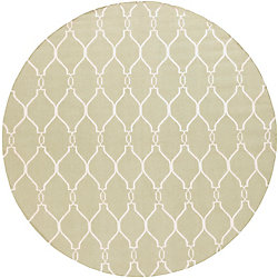 Home Decorators Collection Agios Sea Foam 8 Feet x 8 Feet Round Indoor Area Rug