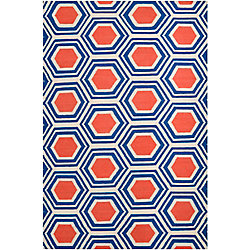Home Decorators Collection Aisai Cobalt 2  ft. x 3  ft. Indoor Area Rug