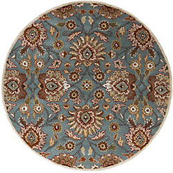 Home Decorators Collection Cambrai Blue 9 Feet 9 Inch x 9 Feet 9 Inch Round Indoor Area Rug