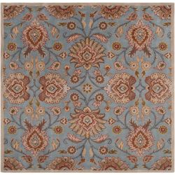 Home Decorators Collection Cambrai bleu 9 ft. 9 in. X 9 ft. 9 in. carre tapis interieur