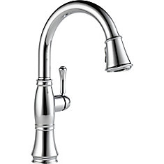 Single Handle Pull Down Kitchen Faucet, Chrome