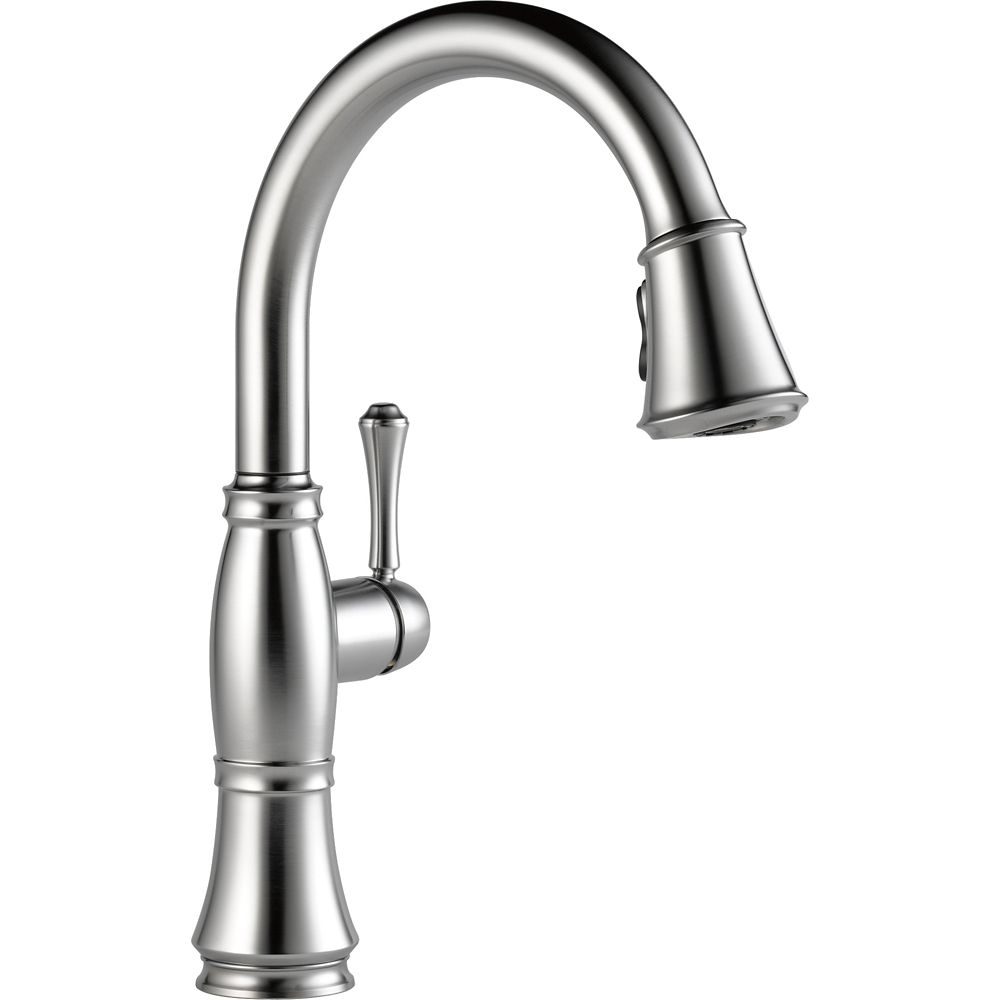 Delta Single Handle Pull Down Kitchen Faucet, Arctic Stainless