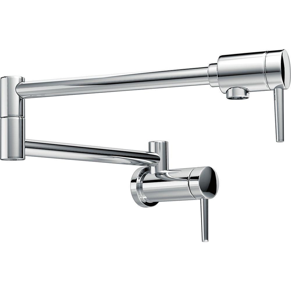 Pot Filler Faucet - Wall Mount, Chrome