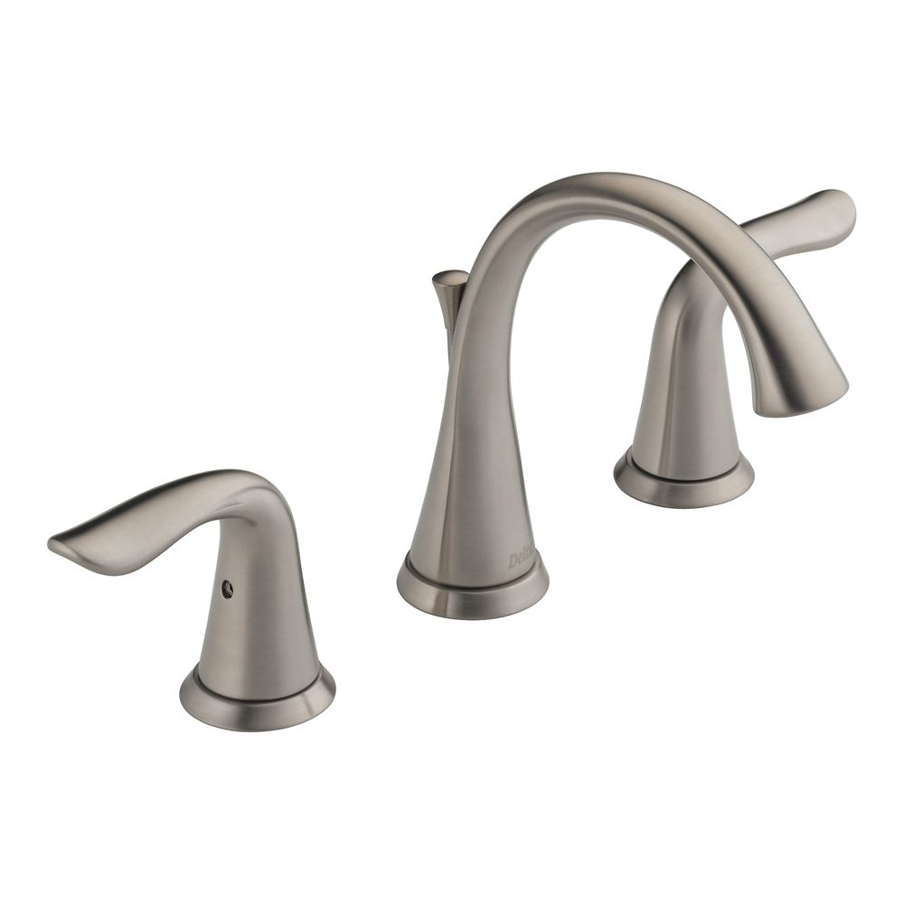 Two Handle Widespread Lavatory Faucet, Stainless Steel