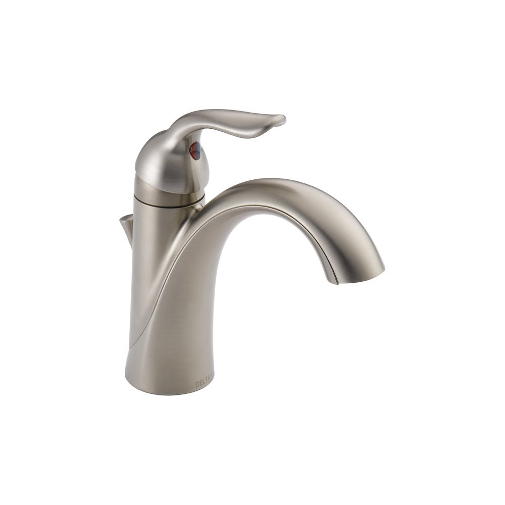 Single Handle Centerset Lavatory Faucet, Stainless Steel