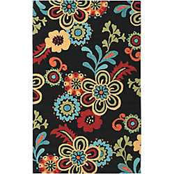 Home Decorators Collection Santiago  Black 3  ft. 3-inch x 5  ft. 3-inch Indoor/Outdoor Area Rug