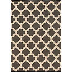 Home Decorators Collection Aggie Black 3 Feet 6 Inch x 5 Feet 6 Inch Indoor/Outdoor Area Rug
