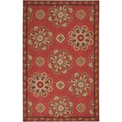 Home Decorators Collection Kelly Red 9 Feet x 12 Feet Indoor/Outdoor Area Rug