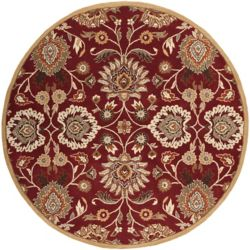 Home Decorators Collection Cambrai Burgundy 9 Feet 9 Inch x 9 Feet 9 Inch Round Indoor Area Rug