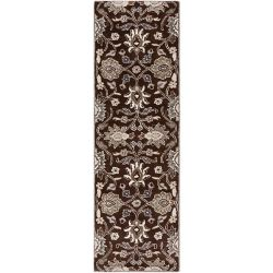 Home Decorators Collection Cambrai Chocolate 2 Feet 6 Inch x 8 Feet Indoor Runner