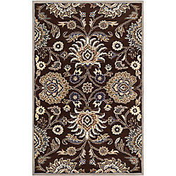 Home Decorators Collection Cambrai Chocolate 5 Feet x 8 Feet Indoor Area Rug
