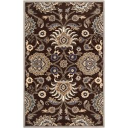 Home Decorators Collection Cambrai chocolat 5 ft. X 8 ft. tapis interieur
