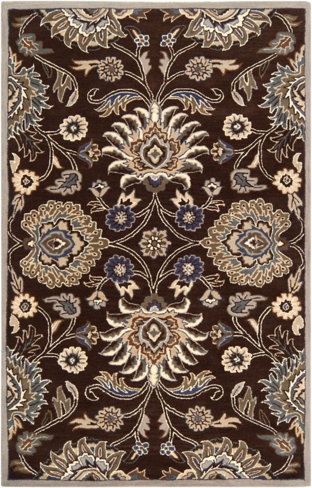 Home Decorators Collection Cambrai Chocolate 7 Feet 6 Inch x 9 Feet 6 Inch Indoor Area Rug