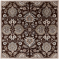 Home Decorators Collection Cambrai Chocolate 9 Feet 9 Inch x 9 Feet 9 Inch Square Indoor Area Rug