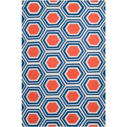 Home Decorators Collection Aisai Cobalt 3  ft. 6-inch x 5  ft. 6-inch Indoor Area Rug