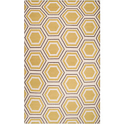 Home Decorators Collection Aisai Gold 3  ft. 6-inch x 5  ft. 6-inch Indoor Area Rug