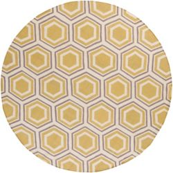 Home Decorators Collection Aisai Gold 8  ft. x 8  ft. Round Indoor Area Rug