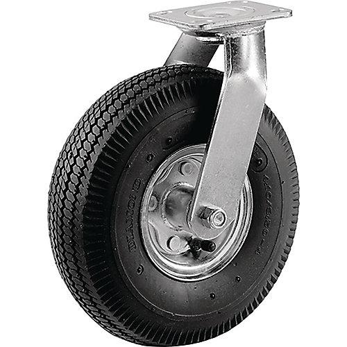 Roulette pivotante moyenne de 203 mm à roue pneumatique