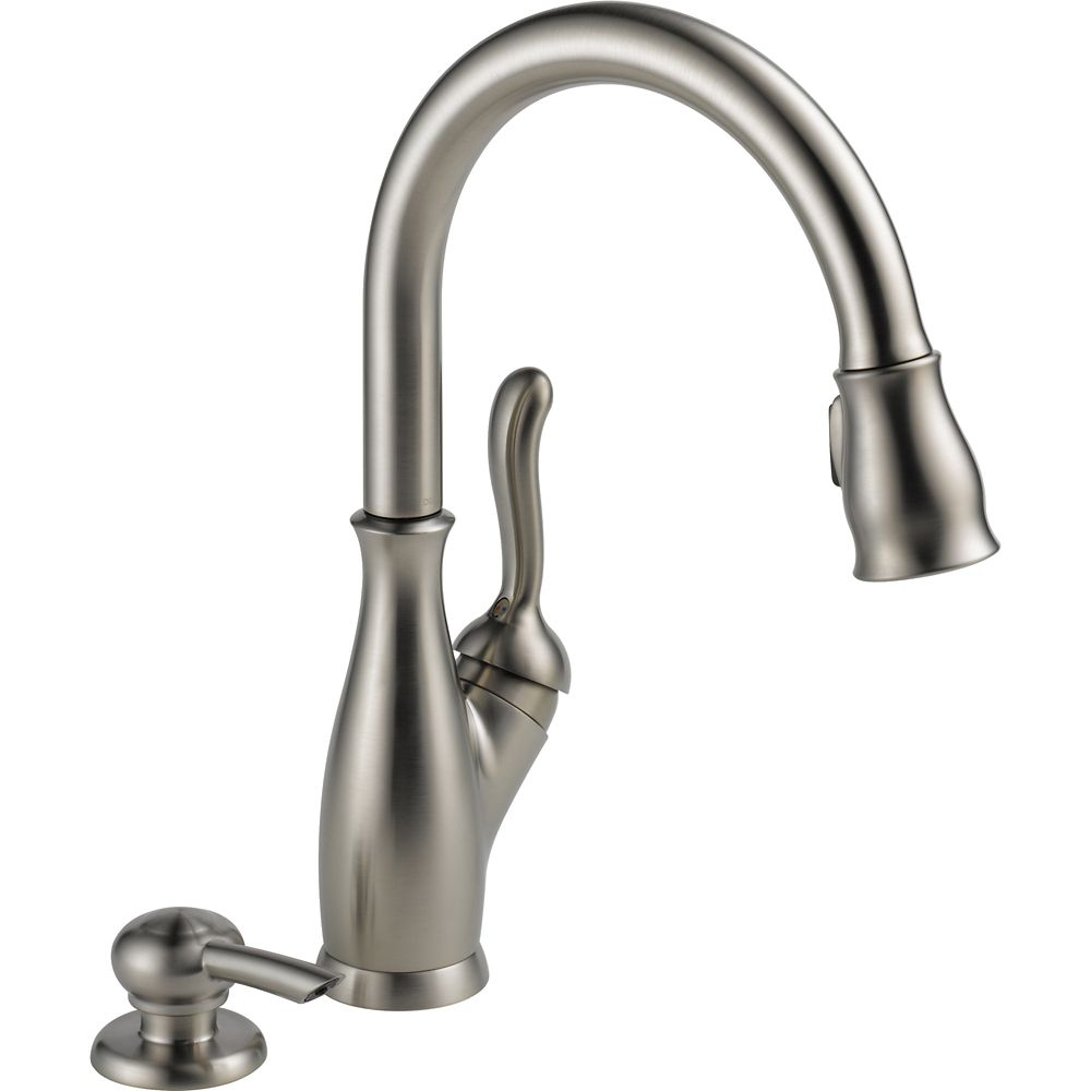 Delta Leland Kitchen Single Handle Pull Down Faucet, Stainless Steel