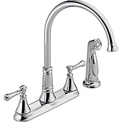 Cassidy Two Handle Kitchen Faucet with Spray in Chrome