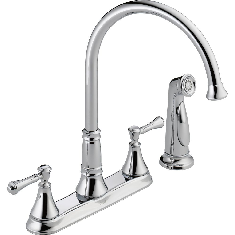 Cassidy Two Handle Kitchen Faucet with Spray, Chrome